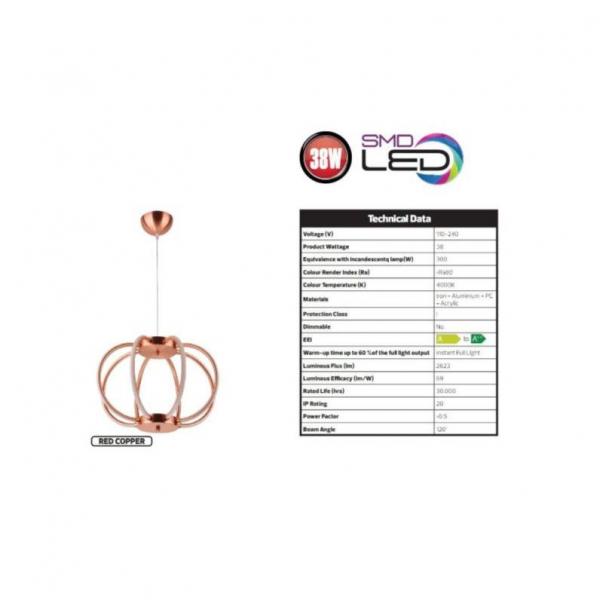 Lustra LED Pendul SLC 8 brate [2]